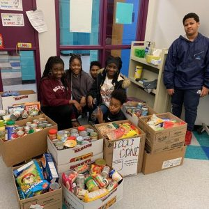 McGlynn Middle School Food Drive